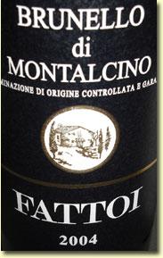 FATTOI BRUNELLO DI MONTALCINO 2004