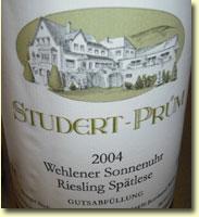 STUDERT-PRUM RIESLING SPATLESE 2004